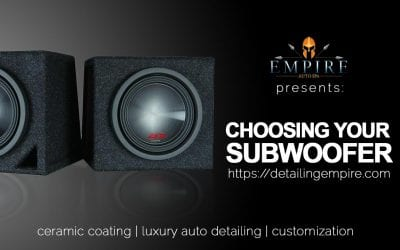 Choosing the Right Subwoofer